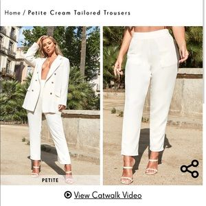 NWT Pretty Little Thing Cream Trousers